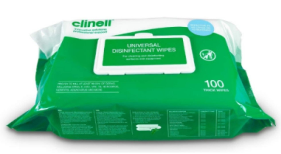 Clinell disinfectant wipes (pack 200)