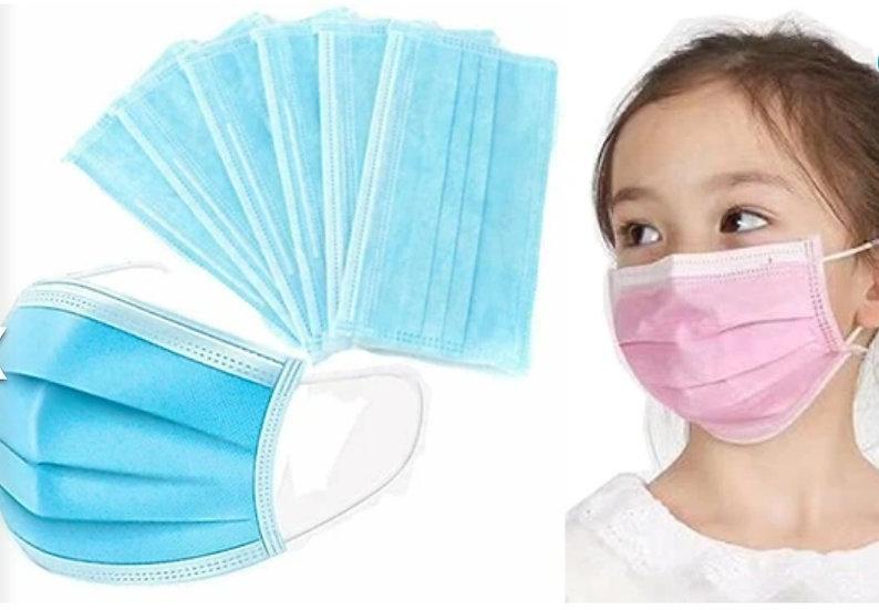 Disposable Children's surgical face masks (box 50)