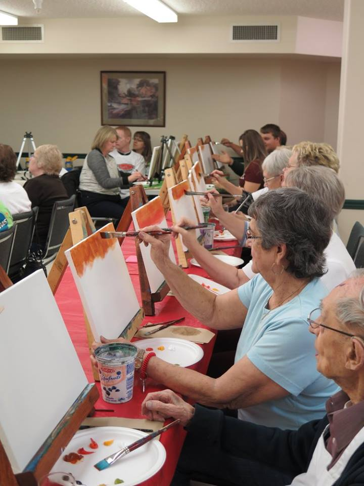 Lions Village Paint Night