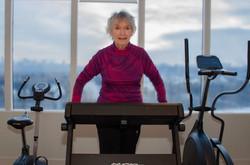 Woman On Treadmill