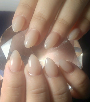 Short almond shaped Nudes! Always a classic look.
