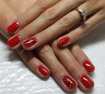 dorothy's red slippers gel manicure.