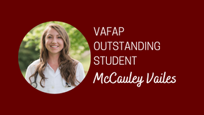 McCauley Vailes Named VAFAP Outstanding Student
