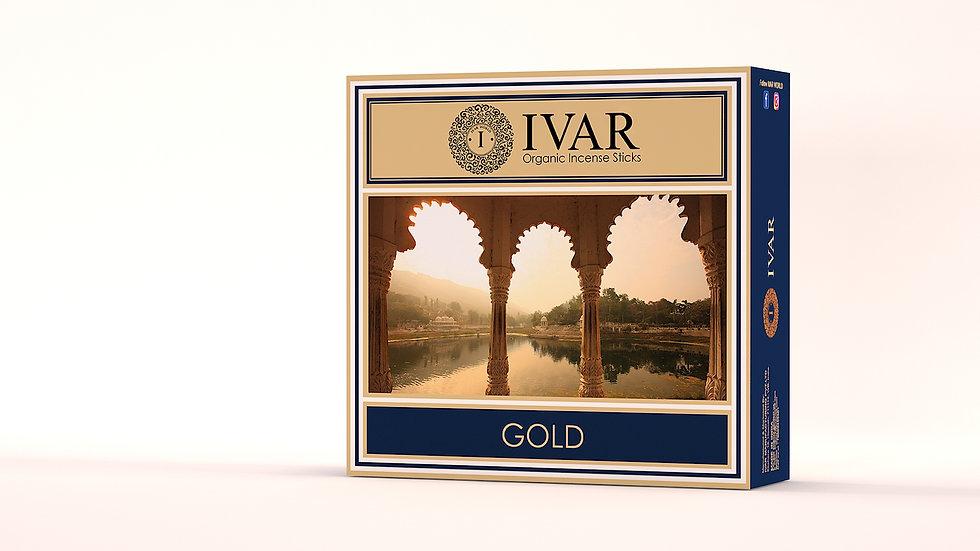 GOLD Value Saver Pack - IVAR Organic incense sticks. Pack of 12.