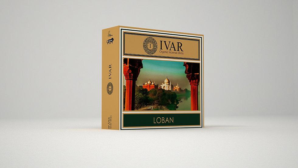 LOBAN Value Saver Pack -  IVAR organic incense sticks. Pack of 12.