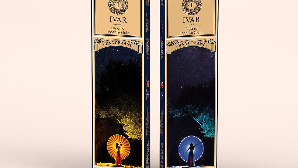 RAAT RAANI IVAR Founder's Signature - organic incense sticks Pack of 12.