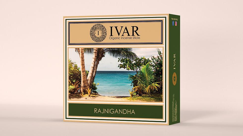 RAJNIGANDHA Value Saver Pack - IVAR Organic incense sticks. Pack of 12.