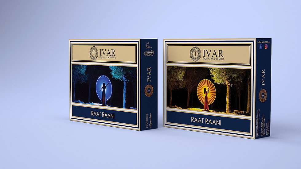 RAAT RAANI Value Saver Pack - IVAR Organic incense sticks. Pack of 12