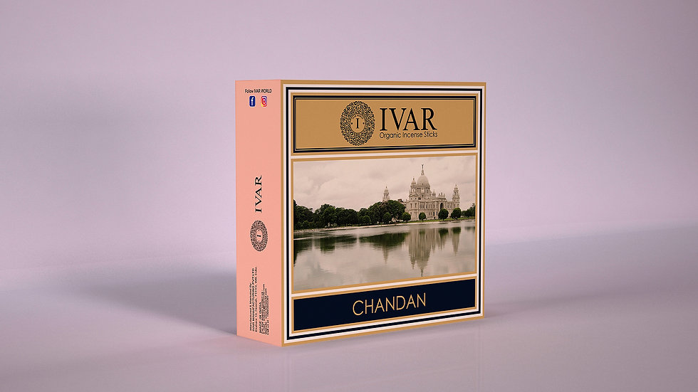 CHANDAN Value Saver Pack - IVAR Organic incense sticks. Pack of 12.