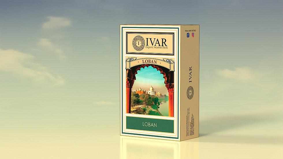 LOBAN - IVAR house blend Organic incense sticks. Pack of 12.
