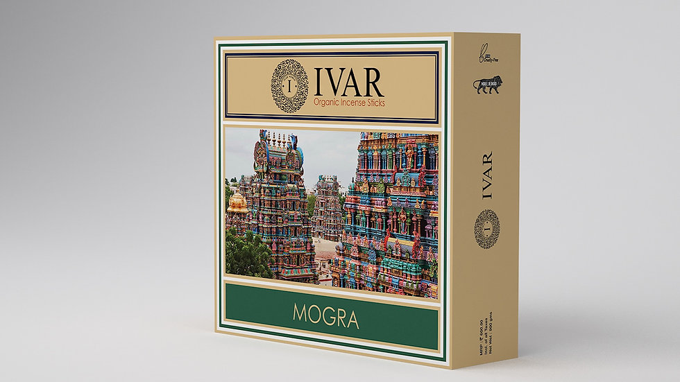 MOGRA Value Saver Pack - IVAR Organic incense sticks. Pack of 12.