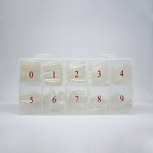 Confezione Tips Trasparenti per Nail Art - 500 Pezzi