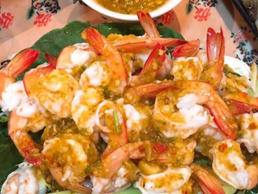 Shrimps with Seafood Sauce