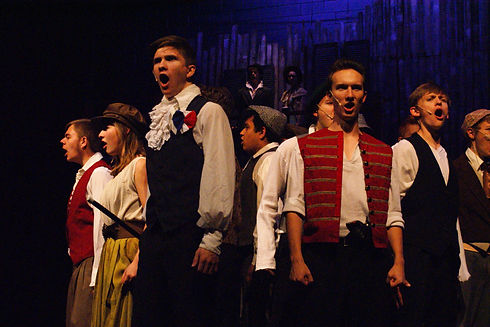 Castle View High School-Les Miserables Cast w Abby Lehrer, Jaden Tactaquin, and Gavin Hickman [c Viv
