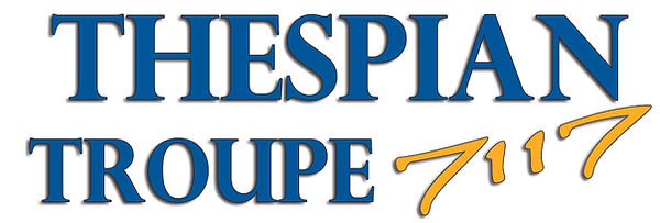 CVHS Thespian Troupe 7117 Logo - words.j
