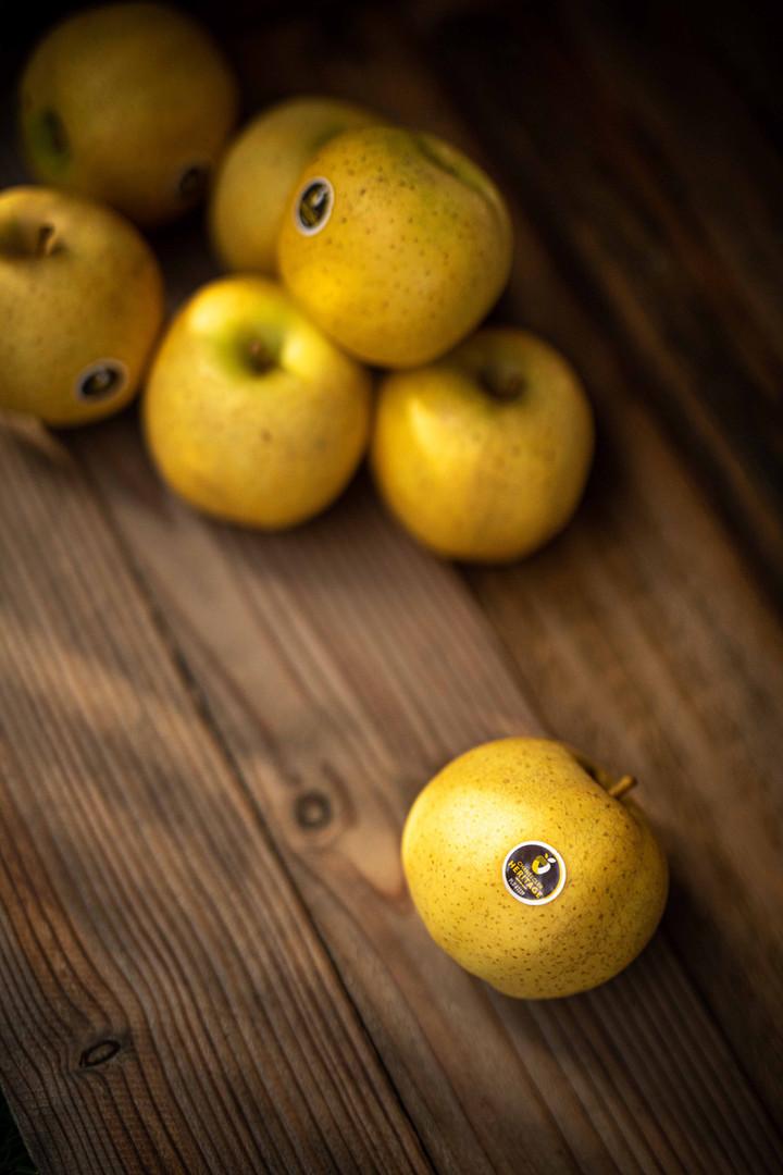 Photographie culinaire - pomme chanteclerc
