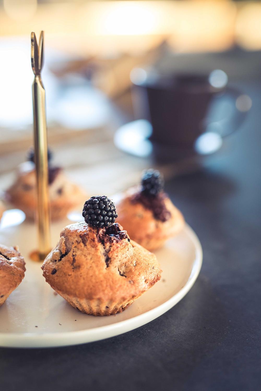 Muffins aux mûres & chocolat