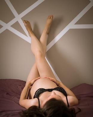 photo boudoir - grossesse