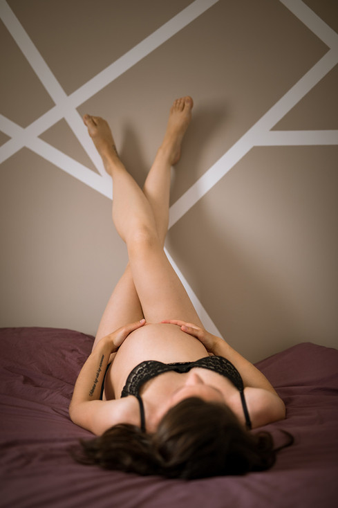 photographe grossesse - séance photo boudoir