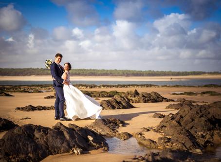 Séance photo couple mariés à Jard sur Mer en Vendée.