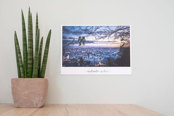 Aquarelle sur photographie - Paris Montm