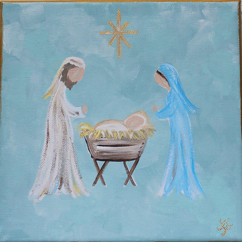 Nativity Original Canvas Art