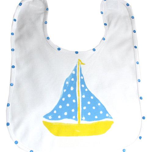 Yellow and Blue Sailboat