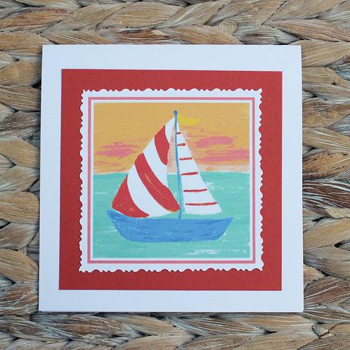 Sailboat Note Card