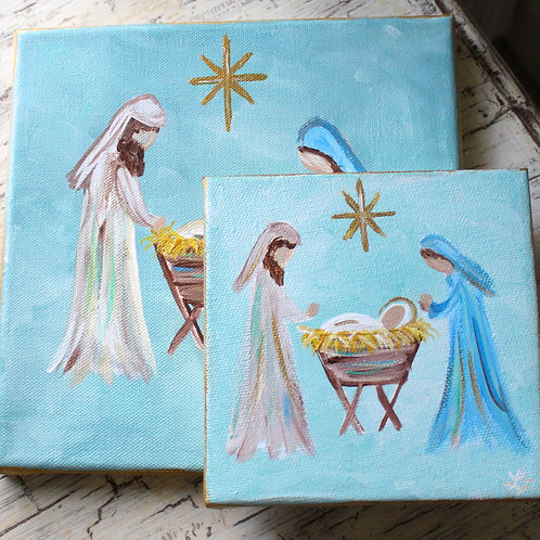 Nativity Original Canvas Mini Art