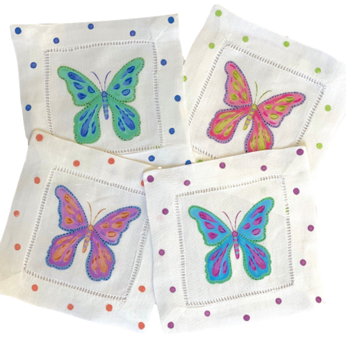 Colorful Butterfly Cocktail  Napkins