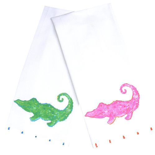 Happy Alligator Kitchen Towel