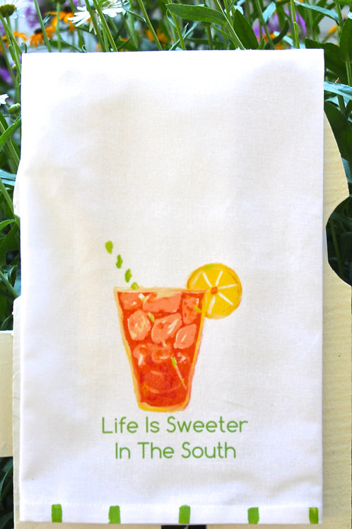 Life is Sweeter in the South Tea Towel