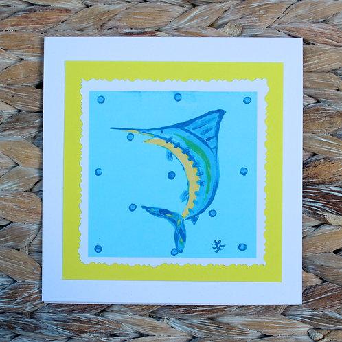 Blue Marlin Note Card