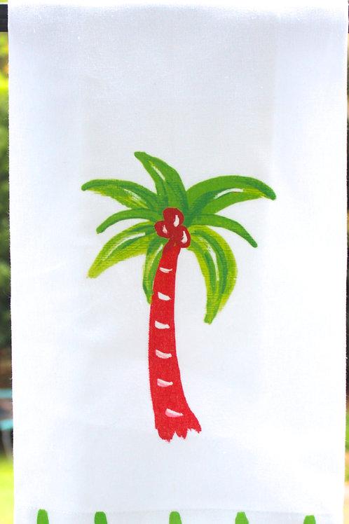 Christmas Palm Tree Kitchen Tea Towel