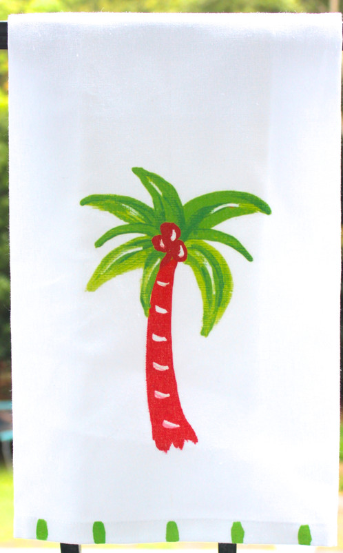 this red and green palm tree makes a great stocking stuffer for the beach lover measuring a large 265 x 17 this towel is ready for action - Christmas Palm Tree Pictures