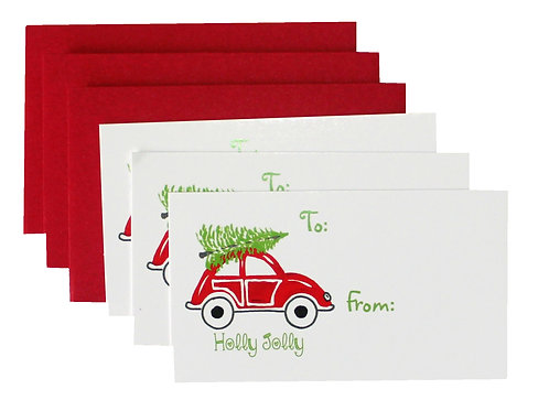 Red Holiday V-W Enclosure Card Set