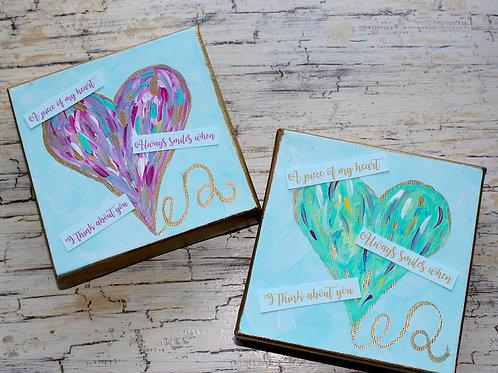 Colorful Hearts Mini Art