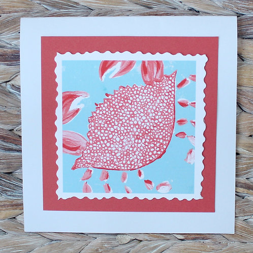 Orange and Blue Crab Note Card