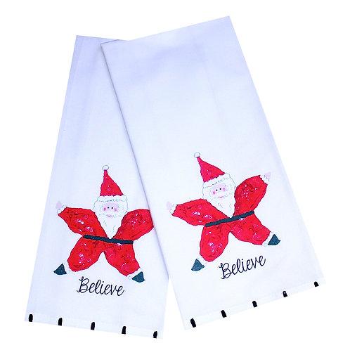 Starfish Santa  Tea Towel