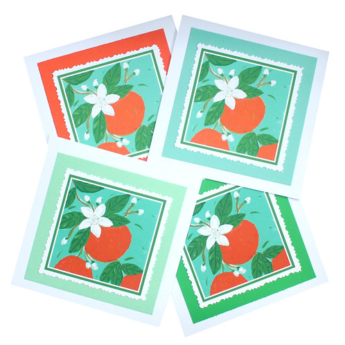 Orange Blossom Note Card Set