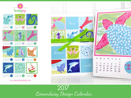 Lemondaisy Design's 2017 Coastal Calendar