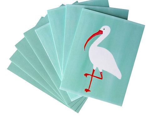 Tropical White Ibis Note Card Set