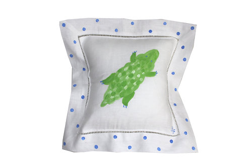 Alligator Linen Pillow