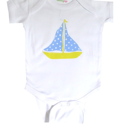 Yellow and Blue Sailboat Beach Creeper