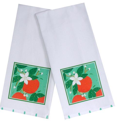 Orange Blossoms Tea Towel