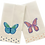 Thumbnail: Colorful Butterfly  Linen Guest Towel