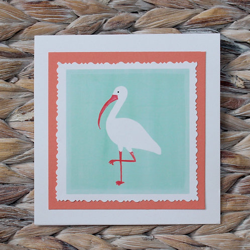 White Ibis Note Card