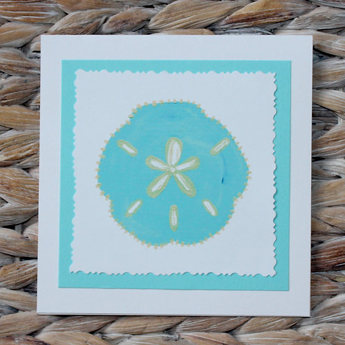 Turquoise Sand Dollar Beach Note Card