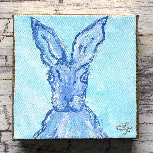 Periwinkle Spring Bunny Original Painting