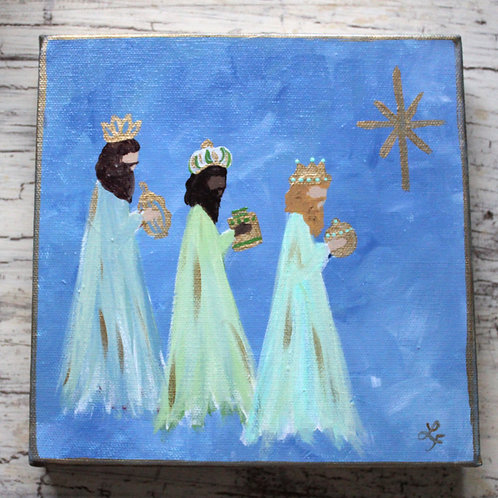 Three Kings Christmas Original Canvas Art